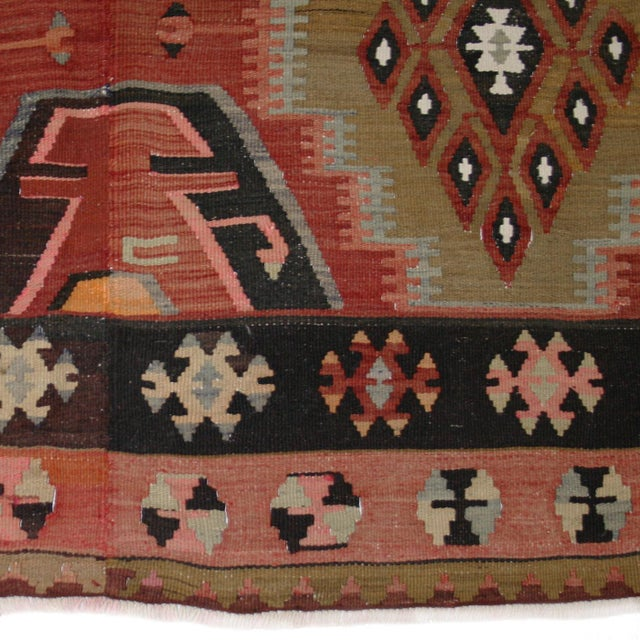 "Turkish Adana Flatweave Kilim Rug - 6'1"" x 12'6"" - Image 6 of 6"