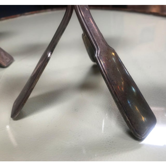 1960s Mid-Century Modern Silverplated Three Arms Candleholders - a Pair For Sale In Los Angeles - Image 6 of 10