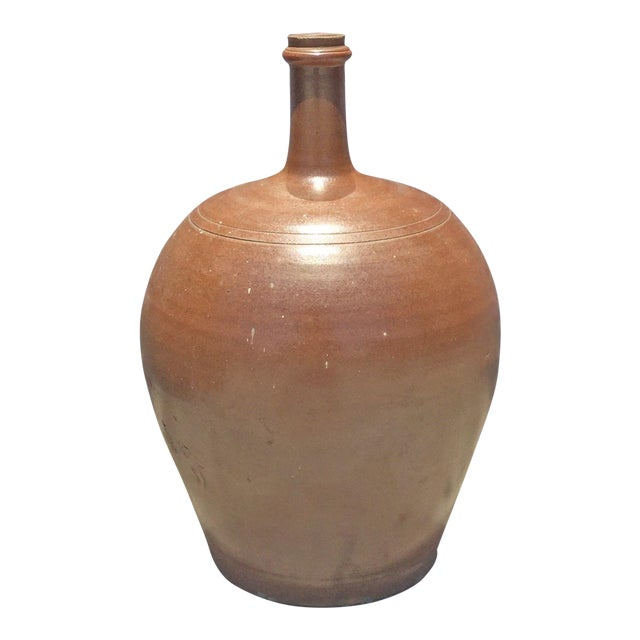 Vintage French Pottery Jug For Sale
