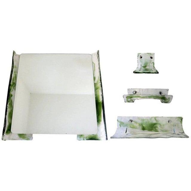 Italian Murano Glass Bathroom Set by Mazzega For Sale - Image 13 of 13