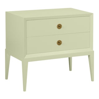 Casa Cosima Hayes 2-Drawer Side Chest, Guilford Green For Sale