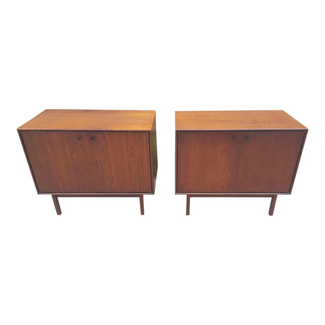 Milo Baughman for Arch Gordon Walnut Cabinets - A Pair - Image 1 of 11