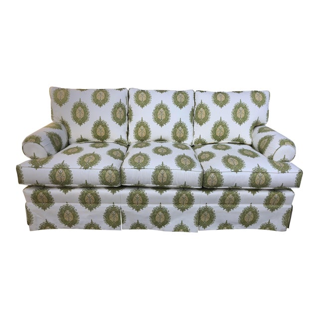 Modern Upholstered Ikat Print Sofa by Century Furniture For Sale - Image 13 of 13