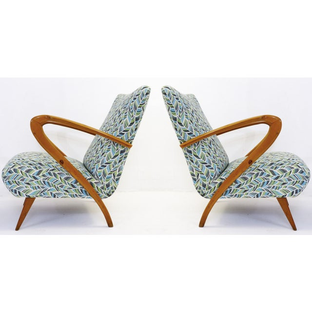 1950s Pair of Guglielmo Ulrich Armchairs, Italy 1950 - New Upholstery For Sale - Image 5 of 9