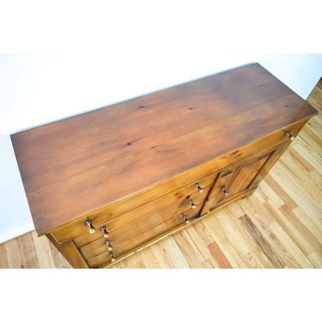 Vintage Rustic Farmhouse Pine Sideboard Buffet - Image 7 of 11