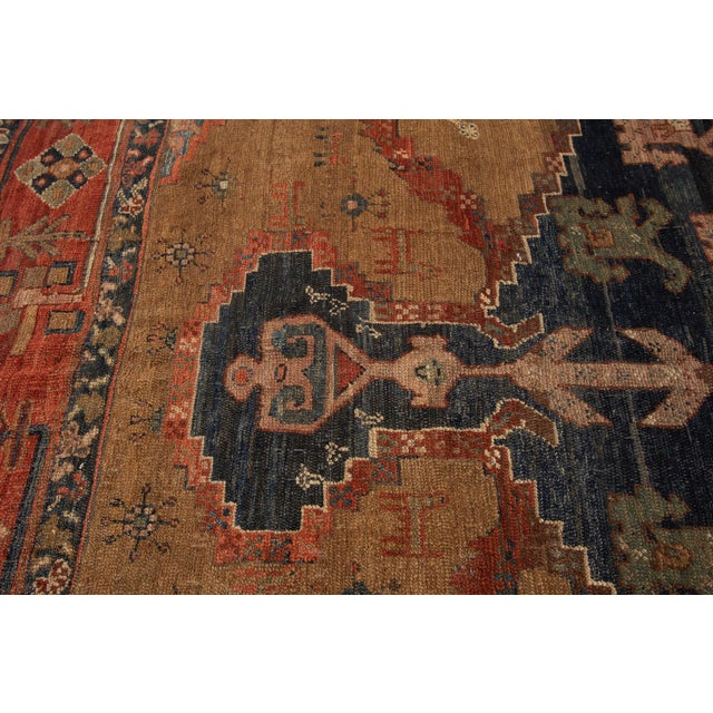"Vintage Persian Tribal Bakshaish Rug, 8'0"" X 9'6"" For Sale - Image 11 of 12"