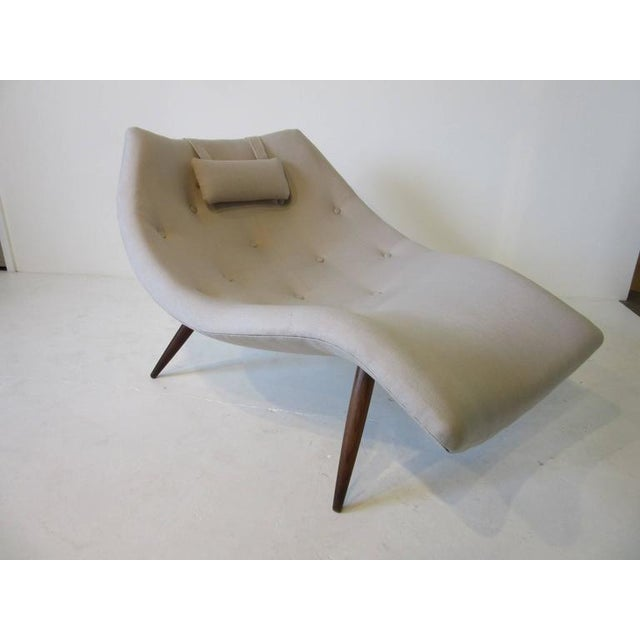 1950s Rare Adrian Pearsall Chaise Lounge Chair For Sale - Image 5 of 10