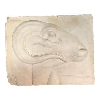 Rams Head Art Plaque