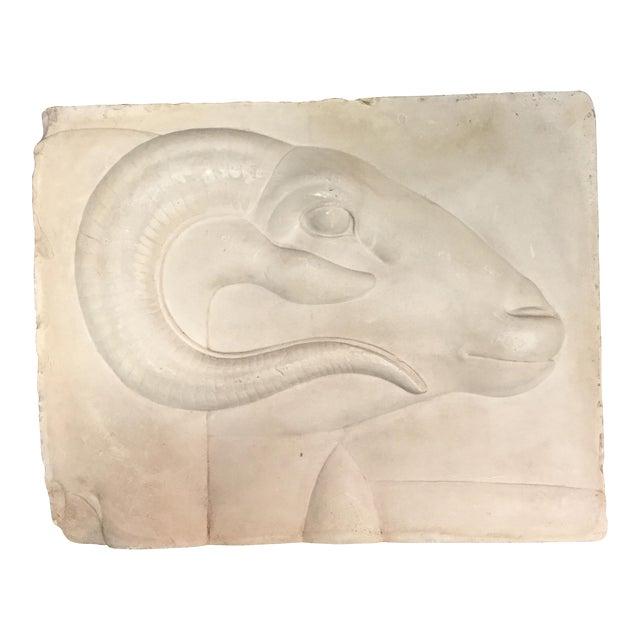 Rams Head Art Plaque For Sale