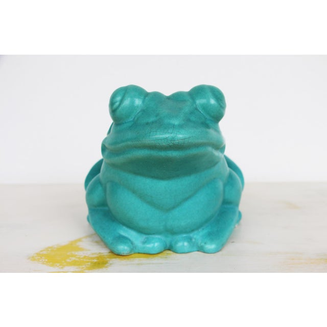 Chinese 1950s Vintage Mid Century Modern Large Frog Planter For Sale - Image 3 of 13