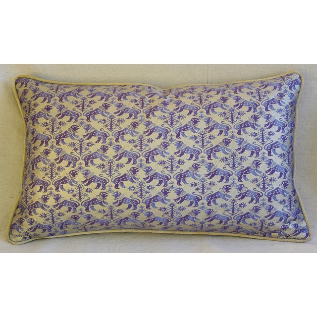 Designer Italian Mariano Fortuny Richelieu Feather/Down Pillows - a Pair - Image 3 of 11