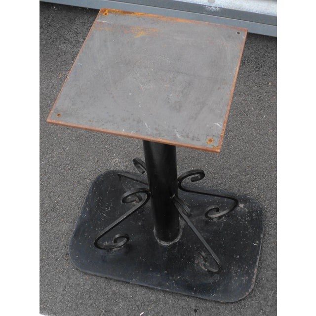Antique Black Painted Art Deco Cast Iron Table Base For Sale In New York - Image 6 of 11