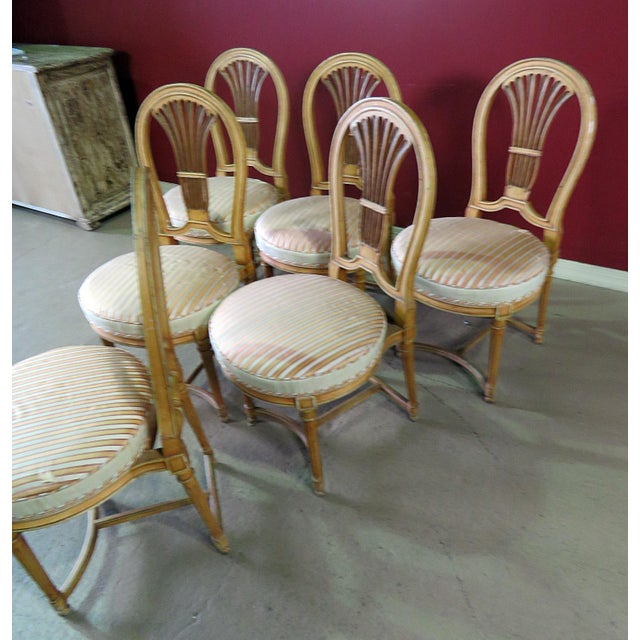 Mid 20th Century Louis XV Style Dining Side Chairs - Set of 6 For Sale - Image 5 of 10