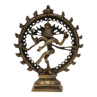Dancing Hindu Bronze Shiva Nataraja For Sale