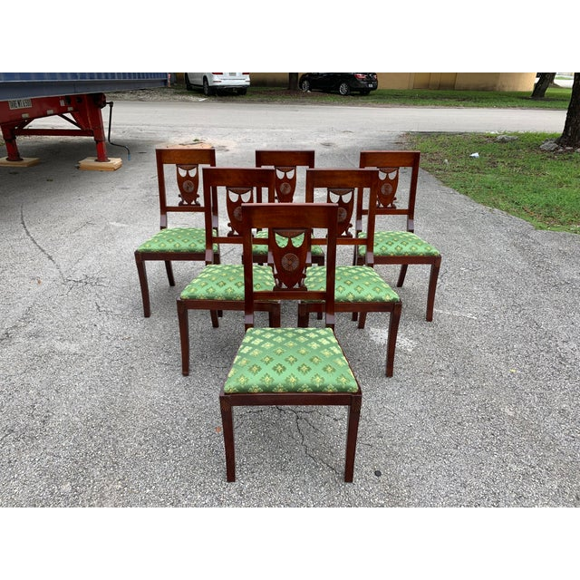 1910s French Empire Solid Mahogany Dining Chairs - Set of 6 For Sale - Image 13 of 13