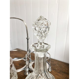 1910s Antique English Silver and Cut Glass Decanter & Ice Bucket Set - Set of 4 Preview