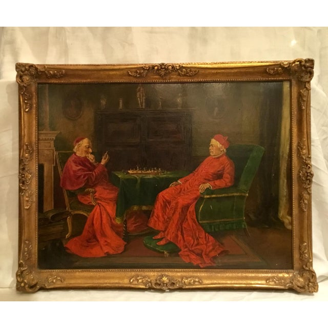 The Gentlemen of Rome ~ Oil on Board Painting Circa 1910 For Sale - Image 13 of 13