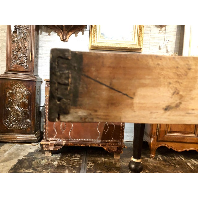 Wood Napoleon III Black Lacquer and Gilt Center Table For Sale - Image 7 of 8