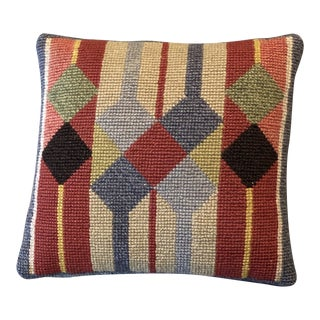 1960s Vintage Swedish Handmade Embroidered Pillow For Sale
