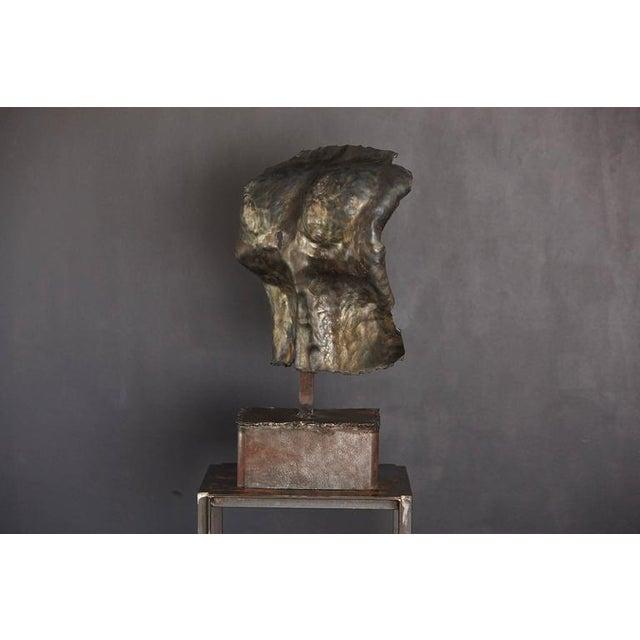 Brutalist Bronze Sculpture of a Female Torso For Sale - Image 4 of 9