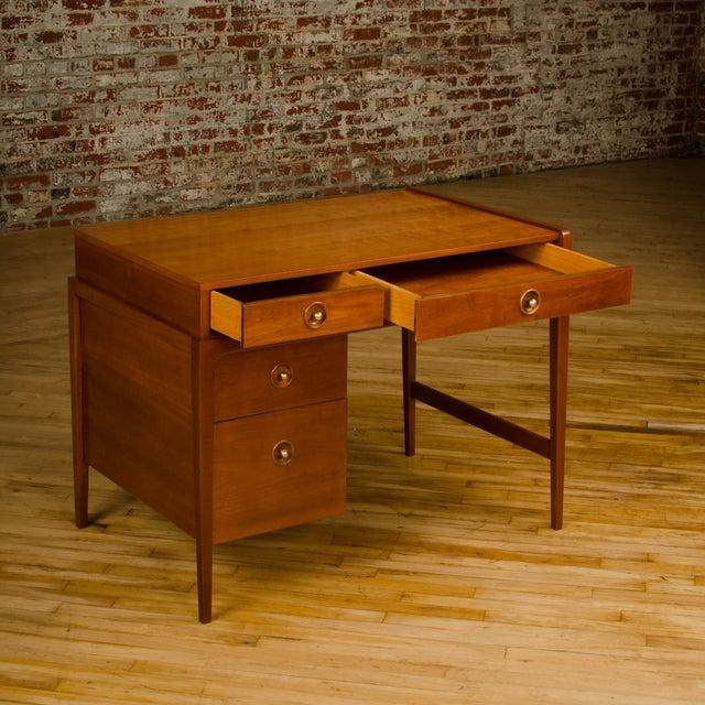 Mid-Century Walnut Desk With Side Extension Designed by John Van Koert for Drexel For Sale - Image 10 of 13