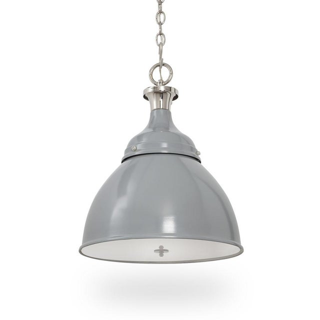 Gray Ann Morris Lighting Rover Pendent in Grey and Polished Nickel For Sale - Image 8 of 8