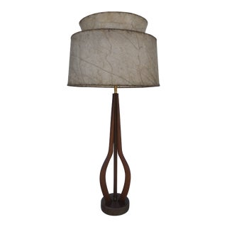 1960s Mid-Century Modern Teak Lamp by V.H. Woolums Mfg. For Sale