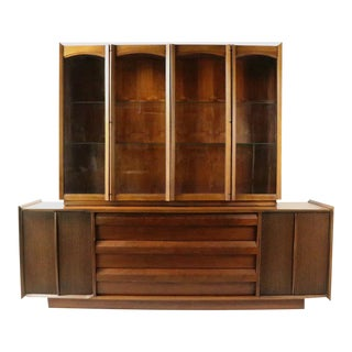 Mid Century Lane 1st Edition Credenza Breakfront Server Sideboard For Sale