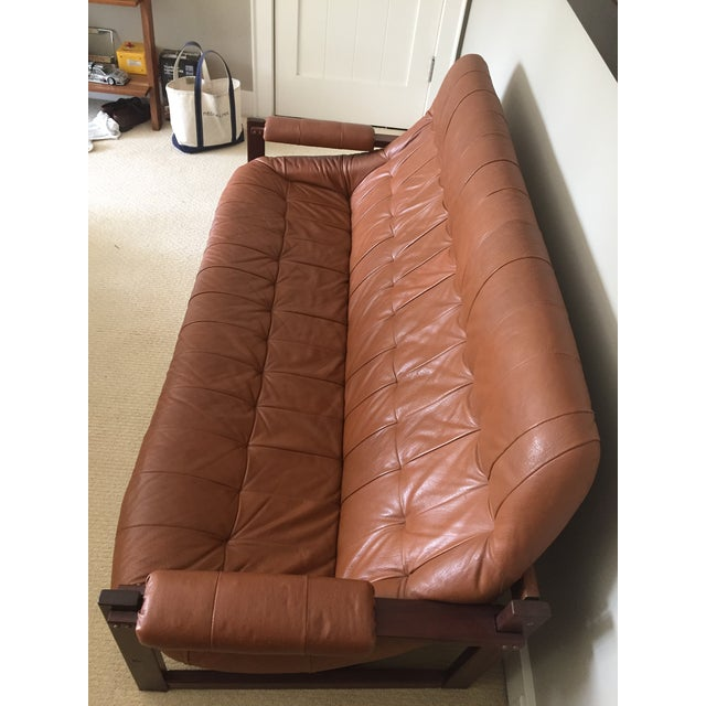 Mid-Century Modern 1970s Mid-Century Percival Lafer Leather Sofa For Sale - Image 3 of 4