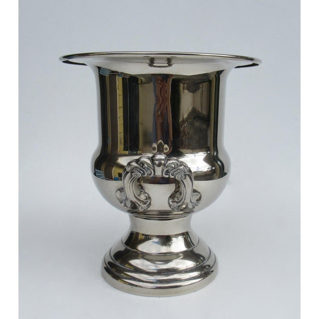 1960s Vintage Silverplate Handled Champagne/Wine Bucket Holder For Sale - Image 5 of 13