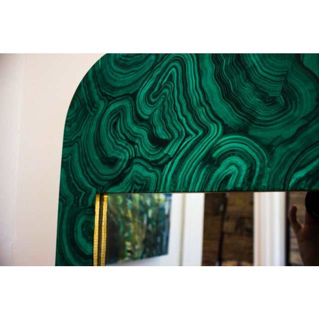 2020s Green Malachite Wall Mirror For Sale - Image 5 of 13