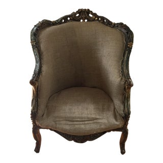 Antique Rococo Bergère For Sale