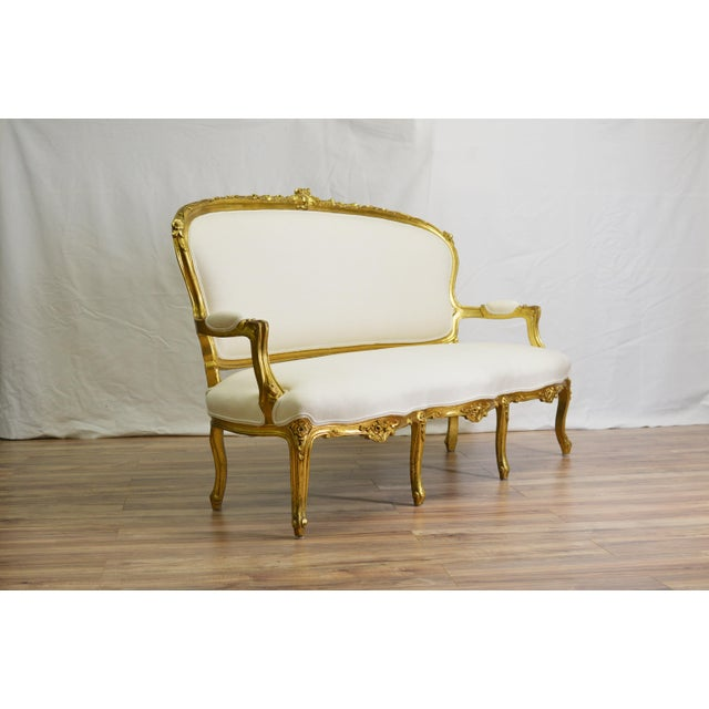 19th Century White and Gold Venetian Sofa - Image 7 of 10