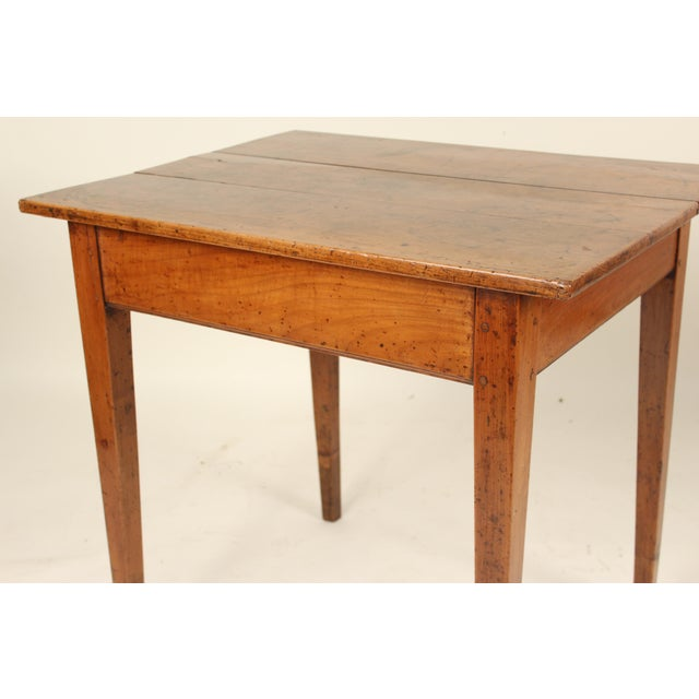19th Century Neoclassical Fruit Wood Occasional Table For Sale In Los Angeles - Image 6 of 12