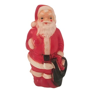 1960s Blow Mold Lighted Santa For Sale