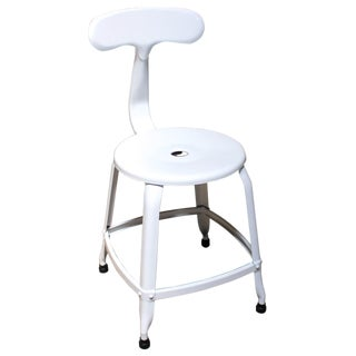 Samson White Steel Kitchen Stool For Sale