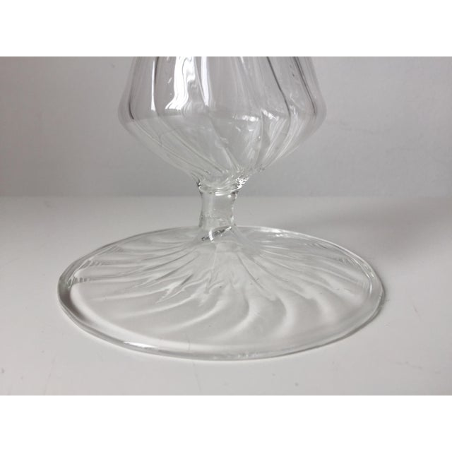 Transparent Murano Hand-Blown Glass Candlesticks For Sale - Image 8 of 10