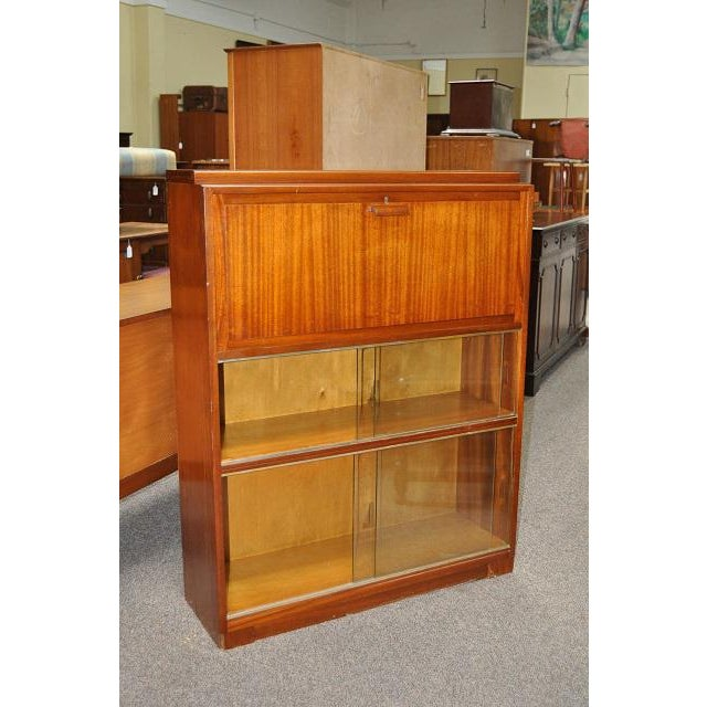 1950's Mid- Century Modern Drop Front Desk With Bookcase - Image 2 of 3