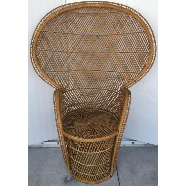 Vintage Rattan Peacock Chair - Image 3 of 8