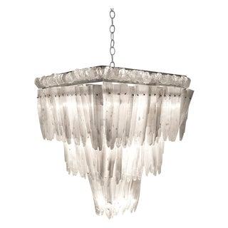 Clear Rock Crystal Hollywood Chandelier By Marjorie Skouras, Tiered