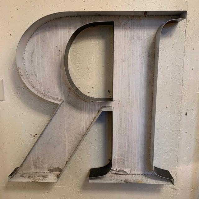 Vintage Metal Letter R For Sale In Atlanta - Image 6 of 8