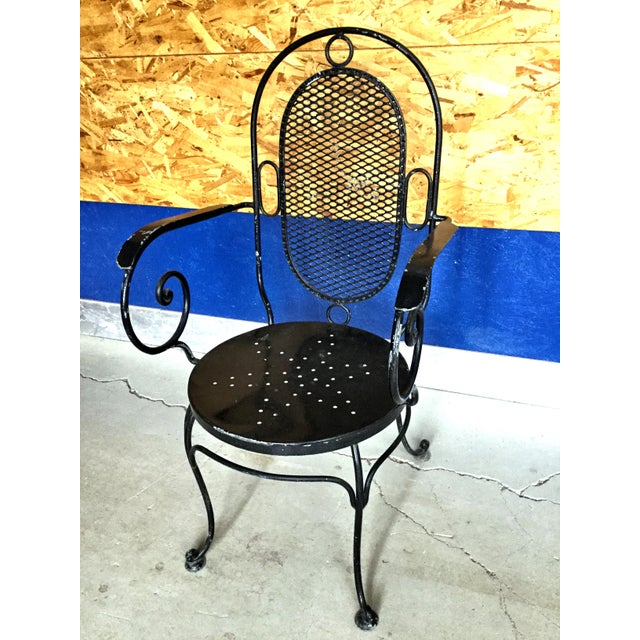 1900s Art Nouveau Indoor and Outdoor Iron Dining Set - 9 Pieces For Sale - Image 10 of 11