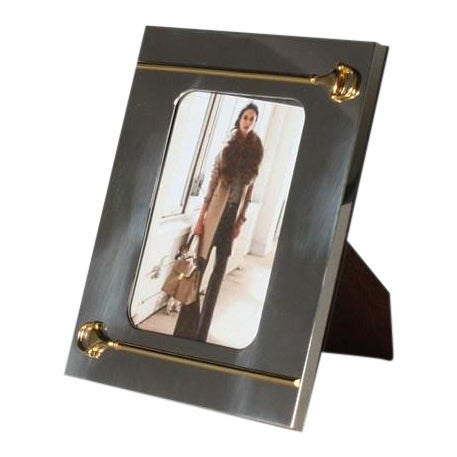 Silver and Gold Gucci Picture Frame, C. 1940 For Sale