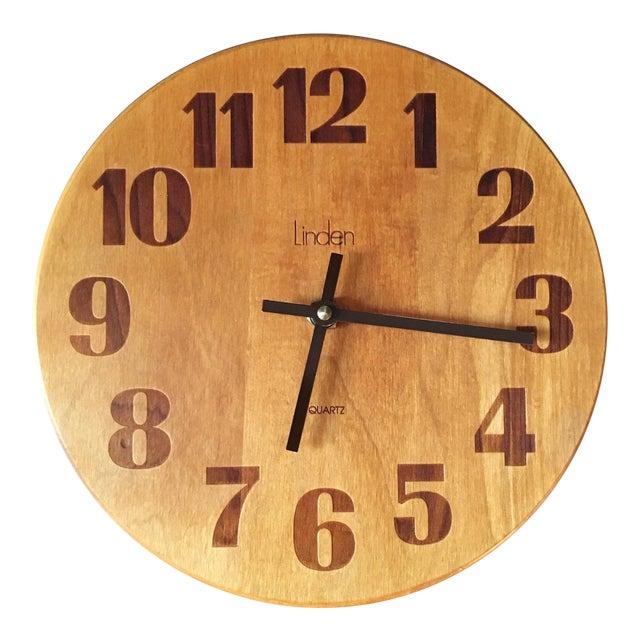 Vintage Mid-Century Modern Linden Wall Clock - Image 1 of 6