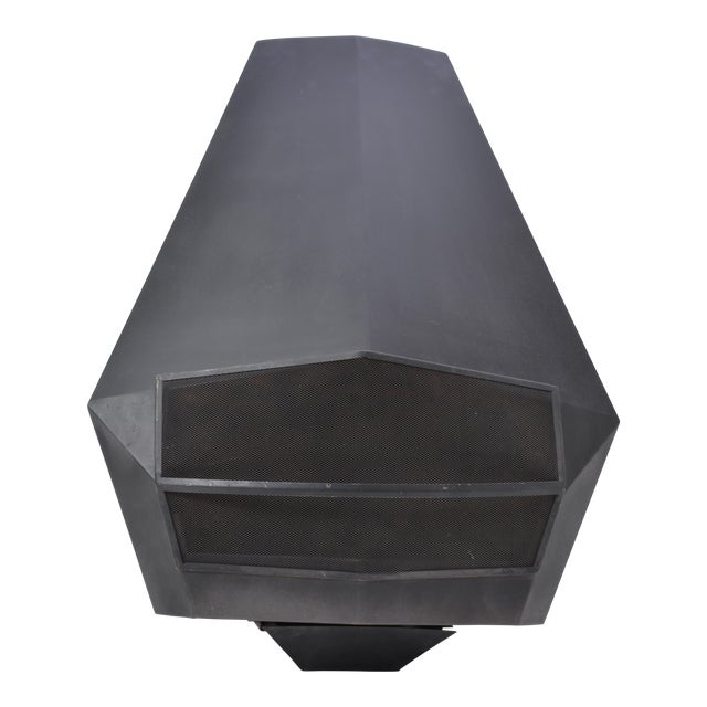 Model 5005 Mid-Century Modern Steel Fireplace From Don-Bar Design, 1970s For Sale
