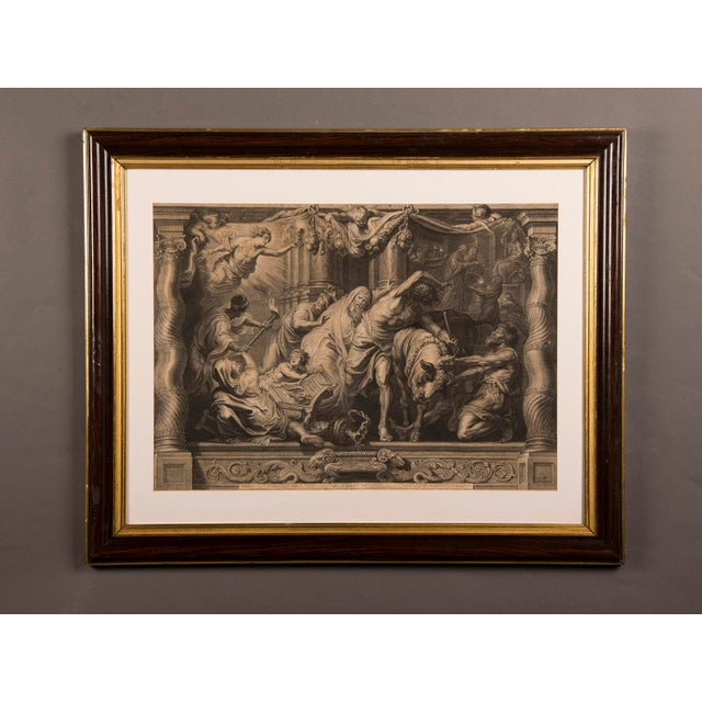 """""""The Triumph of Eucharistic Truth over Heresy"""", an engraving of the painting by Peter Paul Rubens c.1800. This..."""