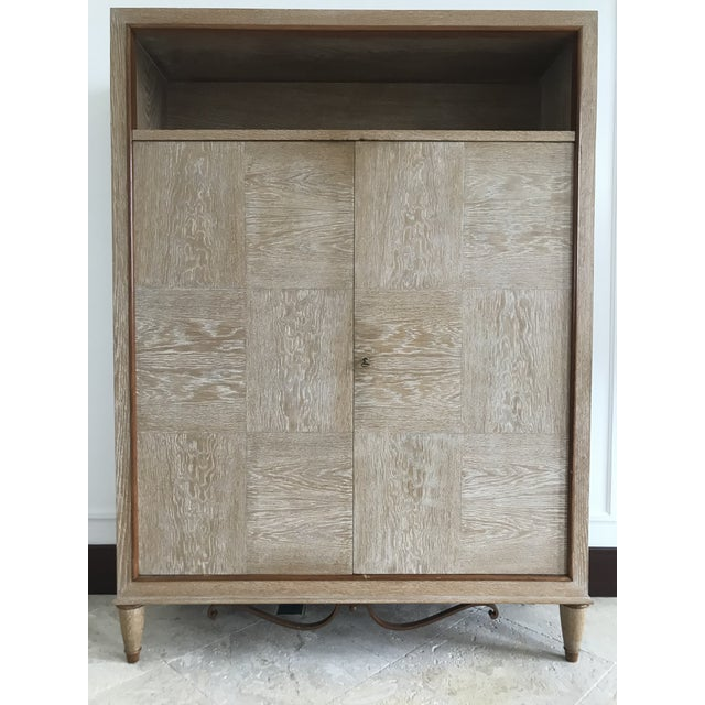 1940s Mid Century French Cerused Cabinet For Sale - Image 11 of 11