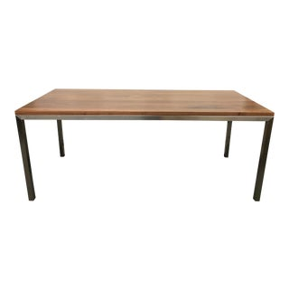 Room & Board Portica Walnut & Steel Dining Table For Sale