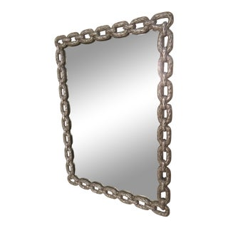Metal Chain Link Framed Mirror For Sale