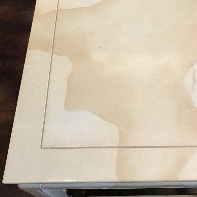 Henredon Chinoiserie Goatskin Lacquer Table - Image 7 of 11